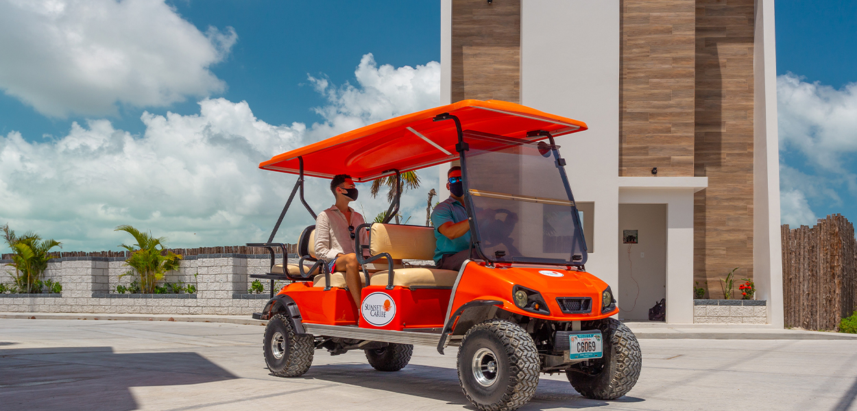 San Pedro Ambergris Caye Golf Cart Rentals - Sunset Caribe Belize